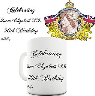 Twisted Envy Elizabeth II 90th Birthday Commemorative Ceramic Novelty Gift Mug