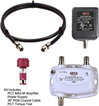 """AMPLIFIER, CATV & OTA SUBSCRIBER PREMISE SINGLE (1) OUTPUT 15dB GAIN 5-1002Mhz w/ 36"""" COAXIAL JUMPER & AC/DC """"POWERING BRICK"""""""