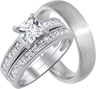 Best silver wedding sets for him and her Reviews