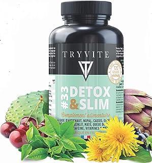 Natural detox del hígado + multivitaminas: supresor del apetito: ayuda a controlar el peso:alcachofa,té verde,guaraná,diente de león+10 ingredientes/cápsulas vegetales/Hecho en FRANCIA