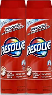 Resolve High Traffic Carpet Foam, 22 oz Can, Cleans Freshens Softens & Removes Stains (Pack of 2)