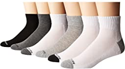 6-Pack Athletic Quarter Socks