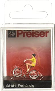 Preiser 28181 Look No Hands! with Bicycle HO Scale Figure