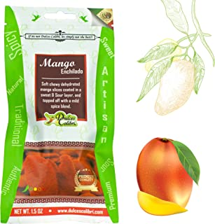 Gourmet Dulces Colibri Mango Enchilado 12 Pack (chili mango) | Resealable Packs | Soft Chewy Mango Slices | Handmade, Fresh, Delicious, Artisan Candy | For Adults, Kids, Party Favors, Snacks & More