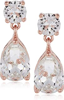 Mestige Women Glass Rose Gold Samira Earrings with Swarovski Crystals