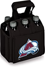 PICNIC TIME NHL Colorado Avalanche Six Pack Insulated Neoprene Beverage Tote, Black