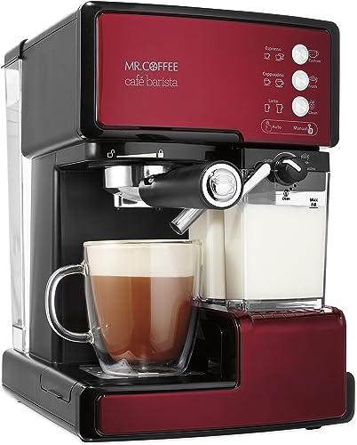 popular Mr. Coffee Cafe Barista Espresso new arrival and Cappuccino Maker, popular Red - BVMC-ECMP1106 online