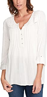 Women's Top with Roll Tab Sleeves