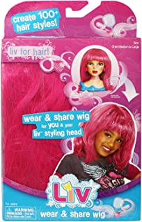 Liv Doll Wear And Share Wig Pink With Mylar