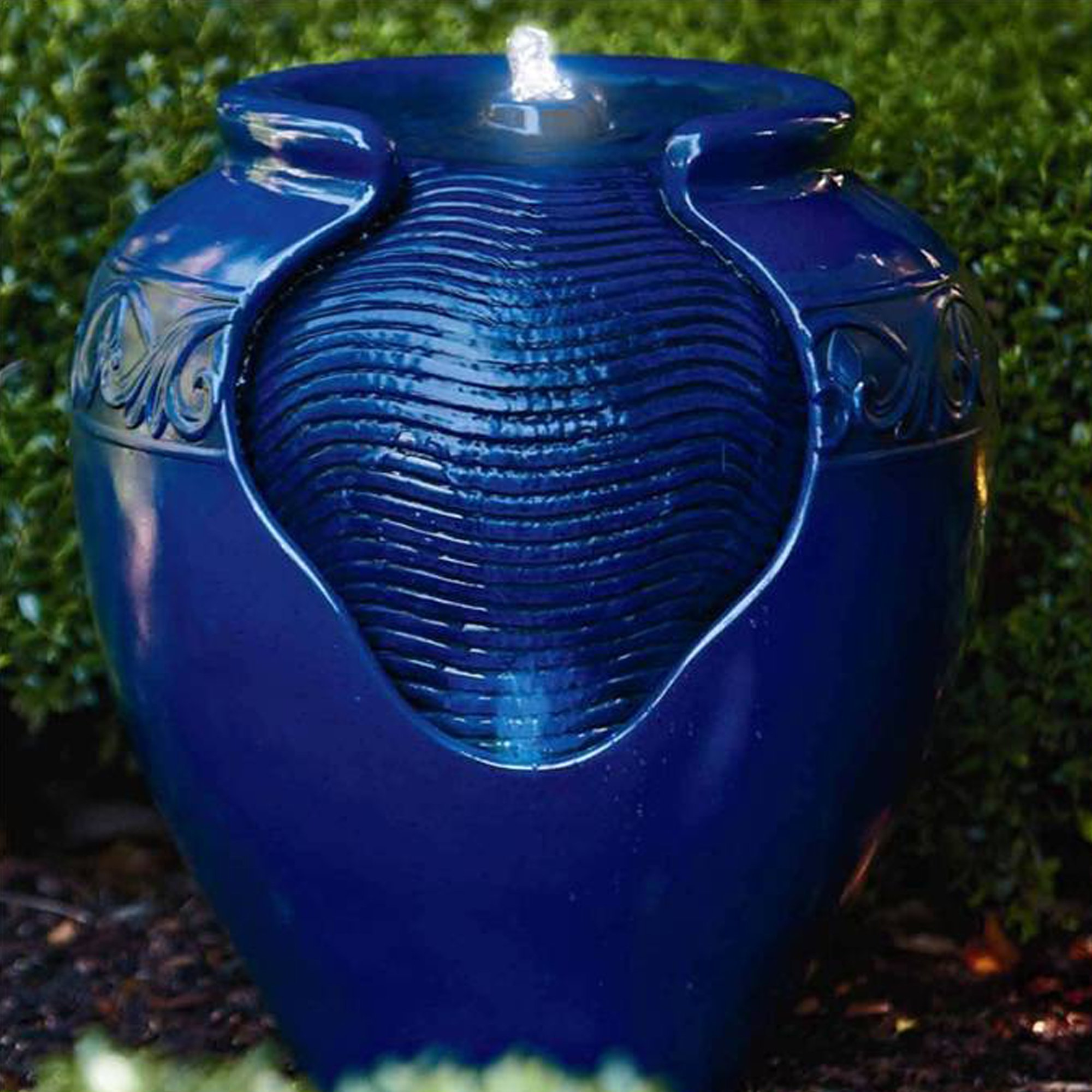 Peaktop Outdoor/Indoor Floor Water Glazed Pot Fountain