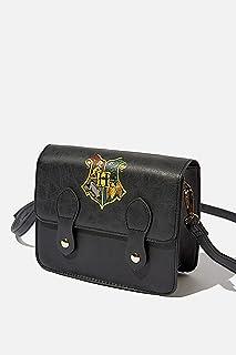 Typo Mini Buffalo Women's Satchel Bag - Lcn Wb Hpo Emblem - Solid, Black