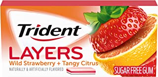 Trident Layers Sugar Free Gum, Wild Strawberry & Tangy Citrus, 14 Count