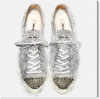 The Oliver Gal Artist Co. Fashion and Glam Wall Art Canvas Prints 'Glitter Sneakers' Home Décor, 12