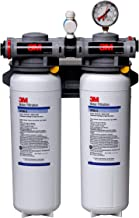 3M Water Filtration System for Commercial Ice Maker Machines, High Flow Series, Reduces Bacteria, Sediment, Chlorine Taste and Odor, Cysts, Inhibits Scale, 6.68 GPM, 70,000 Gallon Capacity
