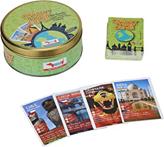 Country Trump Cards Geography Game with Flags, Capitals, Monuments, Stem Toy Birthday Party Favor for kids 5-7 years, 8-10 years, 11-12 years boys and girls