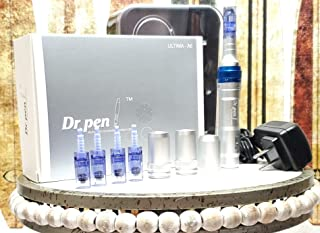 Dr Pen Ultima A6 Pro Microneeling Deluxe Kit. Recheargable With 5 x 36 Pin Tips and 2 Extra Lithium batteries.