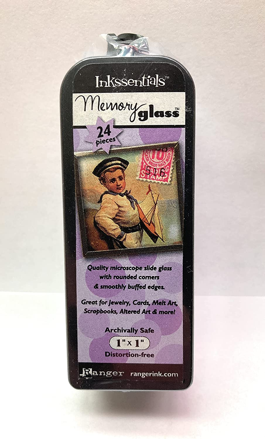 Ranger Memory Glass Microscope Slide for 1-Inch Crafts Max 47% OFF Sq Safety and trust