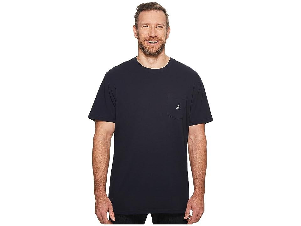 Nautica Big & Tall Big Tall Short Sleeve Anchor Pocket Tee (Navy) Men
