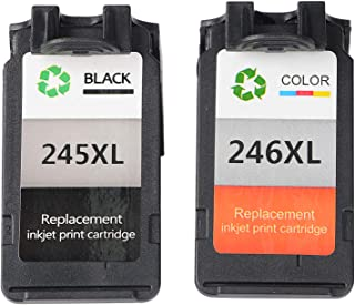 Wenon Remanufactured for Canon PG-245XL 245XL CL-246XL 246XL Ink Cartridge Compatible for Pixma MX492 TS3120 MG2522 MX490 ...