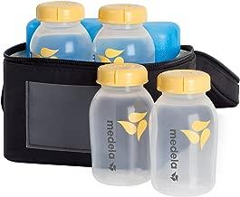 Medela Breast Milk Cooler and Transport Set, 5 ounce Bottles with Lids, Contoured Ice Pack, Cooler Carrier Bag
