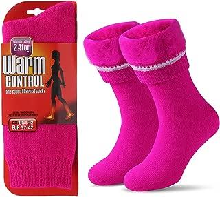 JARSEEN T/érmicos de Invierno Calcetines de Lana Super Calor Gruesa Calentar Suave C/ómodo Calcetines de Mujer Hombre