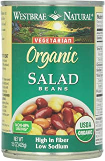 Westbrae Natural, Vegetarian Organic, Salad Beans, 15 oz