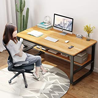 Robuste Cadre en Métal Bureau D'ordinateur,Domicile Table De Bureau avec Thicken Desktop,Ordinateur Portable Table D'étude...