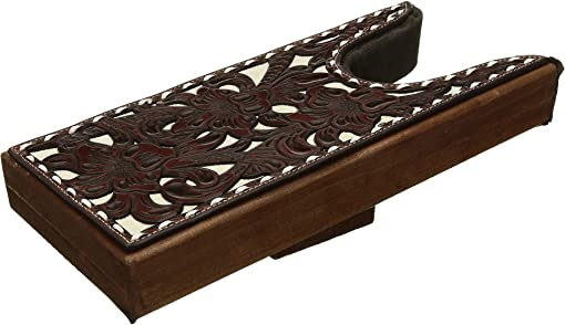 Medium Brown/Bone Floral Emboss Filagree
