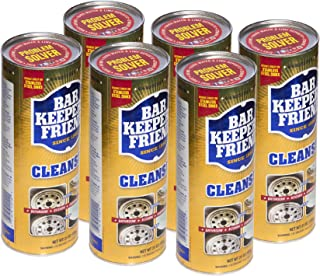 Bar Keepers Friend Powder Cleanser 21 oz - Multipurpose Cleaner & Stain Remover - Bathroom, Kitchen & Outdoor Use - for Stainless Steel, Aluminum, Brass, Ceramic, Porcelain, Bronze and More (6)