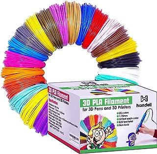 3d Pen & Printer Filament Refills | PLA 1.75mm | 25 Colour Array, 20 Solid Colours + 5 Fluorescent / Transparent, 33ft Each, 825 Feet Total