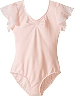 Flutter Sleeve Leotard with Sequin Dot (Toddler/Little Kids/Big Kids)
