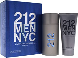 Carolina Herrera 212 For Men 2 Piece Set (3.4 Ounce Eau De Toilette Spray + 3.4 Ounce After Shave Gel), Combo 1