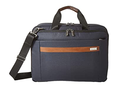 Briggs & Riley Kinzie Street Medium Expandable Brief (Navy) Briefcase Bags