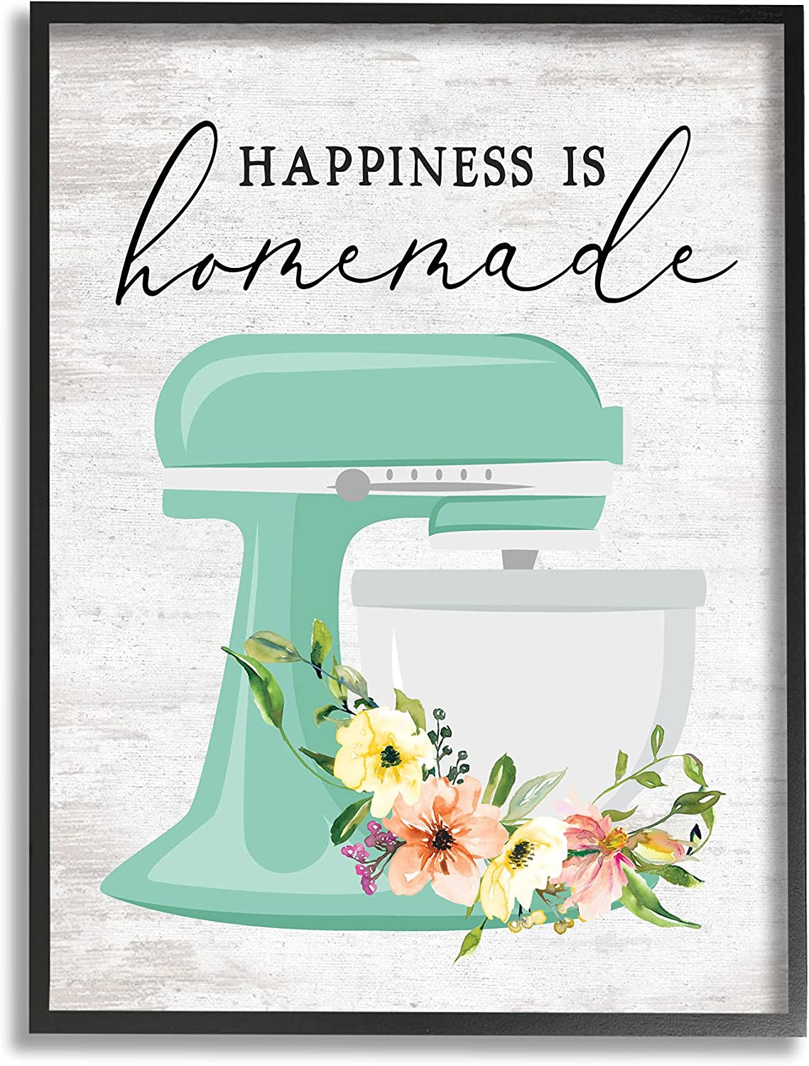 Stupell Max 69% OFF Industries Ranking TOP5 Happiness is Homemade Floral Kitchen Phrase S