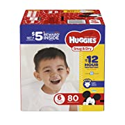 HUGGIES Snug & Dry Diapers, Size 6, 80 Count, GIGA JR PACK (Packaging May Vary)
