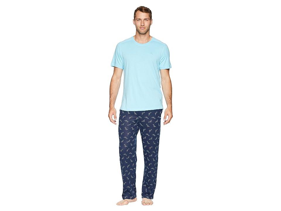 Tommy Bahama Knit Pants Pajama Set (Tossed Multi Marlin) Men