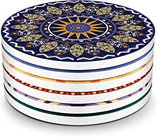 LIFVER Drink Coasters, Mandala and Dream Catcher Style Absorbent Coaster Sets, Avoid Furniture Being Scratched and Soiled, Suitable for Kinds of Cups, 4 Inches, Set of 6
