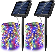 Upgraded Solar Fairy Lights, 200 LED Outdoor Solar String Lights Garden Copper Wire Decorative Lights Waterproof Indoor Ou...