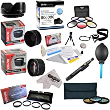 25 Piece Advanced Lens Package For The Olympus E-620, E-610, E-520, E-510, E-500, E-450, E-420, E-410, E-5, E-3, E-330, E-1 & E-30 Digital SLR Cameras - Will Work with the following Zuiko Lenses: 70-300MM, 40-150MM, 14-42MM, 14-45MM, 14-52MM & 35-70MM Lenses - Package Includes 0.43X HD2 Wide Angle Panoramic Macro Fisheye Lens + 2.2x HD AF Telephoto Lens + 3 Piece Pro Filter Kit (UV, CPL, FLD) + 6 Piece Multi-Colored Graduated Filter Set + 5 PC Close-Up Set (+1, +2,+4 with 10X Macro Lens) +