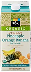 365 Everyday Value, Organic 100% Juice, Pineapple Orange Banana, 59 fl oz