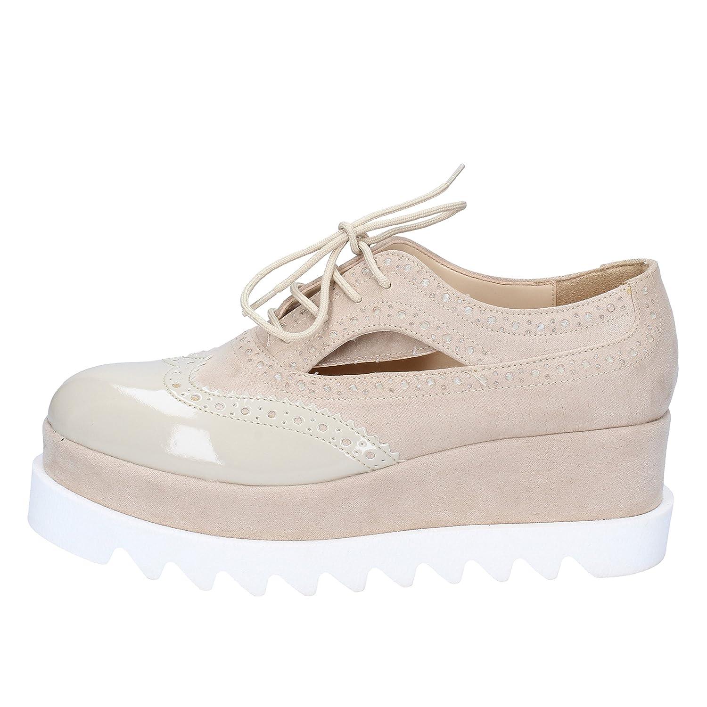 [OLGA RUBINI] 古典的な女性の靴 レディース スウェード ベージュ