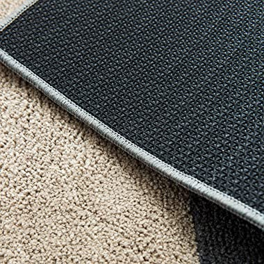 Simple Bathroom Striped mats, Creative Anti - Skid Absorbent Gray Staircase Rugs 40 * 60cm (Color : B)