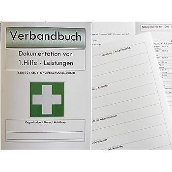 Verbandbuch für Betriebe & Organisationen DIN A5 - GRÜN