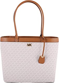 Maddie Large NS Pocket Business Tote PVC Signature Vanilla