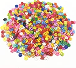 100pcs Bulk Resin Assorted Stars//Flower//Heart Tiny Button Lots Craft Sew Cards