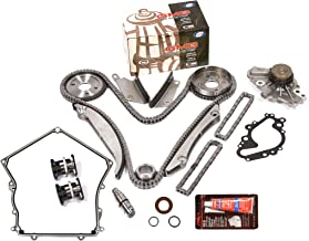 Evergreen TKTCS5028HWP Fits 02-06 Chrysler Dodge V6 2.7L EER Timing Chain Kit GMB Water Pump (NGC Cam Gear) Timing Cover Gasket