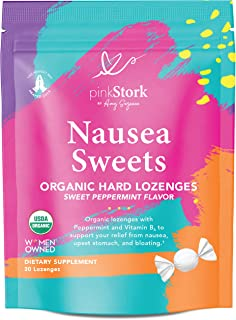 Pink Stork Nausea Sweets: Lite Peppermint, Organic Hard Candy, Nausea Relief + Morning Sickness Relief for Pregnant Women ...