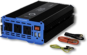 Halo Automotive 1500 Watt Power Inverter 12V DC to 110V AC 3 Outlets and 2 USB Ports