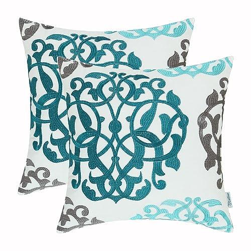 Excellent Aqua Throw Pillows Amazon Com Andrewgaddart Wooden Chair Designs For Living Room Andrewgaddartcom