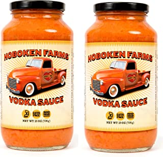 Hoboken Farms Vodka Sauce - No Sugar Added, Gluten Free, Vegetarian, Plant Focused Gourmet Pasta Sauce (2-Pack)